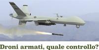 Necessaria azione contro i droni armati