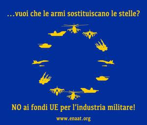 Niente soldi UE per industria armi