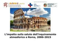 Roma, dodicimila decessi per inquinamento dal 2006 al 2015
