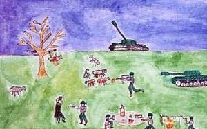 disegno del bambino ceceno