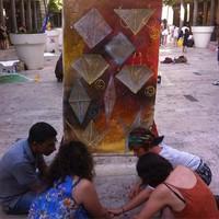 Estemporanea di pittura per la pace in Largo C. Menotti del 4 luglio 2015
