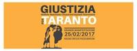 Logo della marcia del 25 febbraio a Taranto