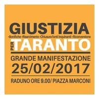 Locandina per la marcia del 25 febbraio 2017 a Taranto