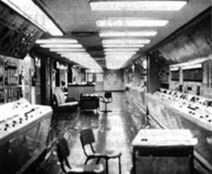 Sala di controllo dell'impianto di separazione del plutonio