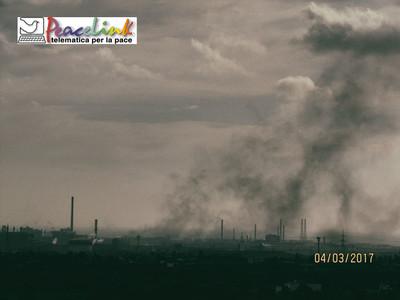 I fumi sprigionati a causa dell'incendio in colata continua nr.5