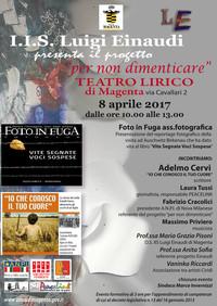 """Progetto """"Per non dimenticare"""" - Al Teatro Lirico di Magenta con i Licei"""