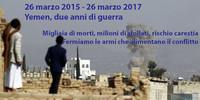 Yemen, a due anni dall'inizio del conflitto la società civile italiana chiede di fermare le armi per bloccare la guerra