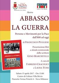 Abbasso la guerra - Presentazione libri a sfondo resistenziale dello scrittore Gino Marchitelli
