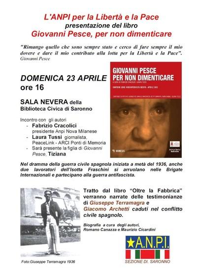 Presentazione Libro/Dvd: Giovanni Pesce, per non dimenticare, MIMESIS Edizioni
