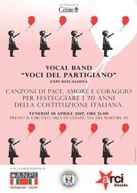 """""""Voci del Partigiano"""" - Canzoni di pace, amore e coraggio"""