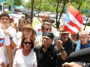 Óscar López il giorno della sua liberazione (Foto G. Trucchi|Rel-UITA)