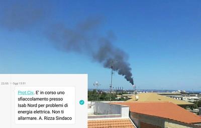 Emissioni a Priolo ed sms del sindaco