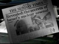 """La copertina del """"Sunday Times"""" che il 5 ottobre 1986 ha rivelato al mondo i segreti dell'arsenale nucleare israeliano."""