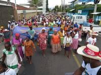 Mobilitazione a Tegucigalpa (Foto G. Trucchi | Rel-UITA)
