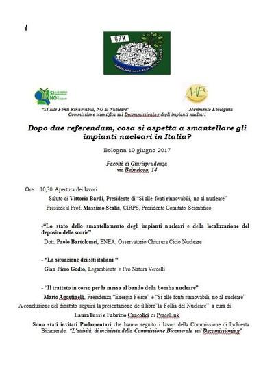 La follia del nucleare - Università di Bologna