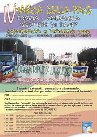 Locandina - IV Marcia della Pace Foggia-Amendola