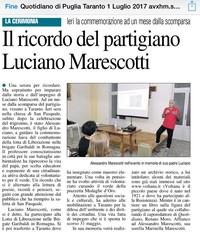In ricordo del partigiano Luciano Marescotti