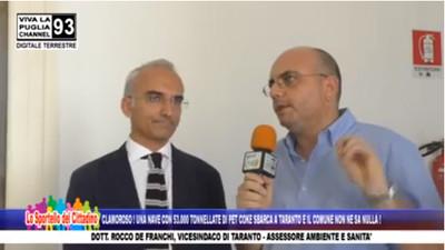 Assessore Ambiente comune di Taranto, De Franchi intervistato da Luigi Abbate