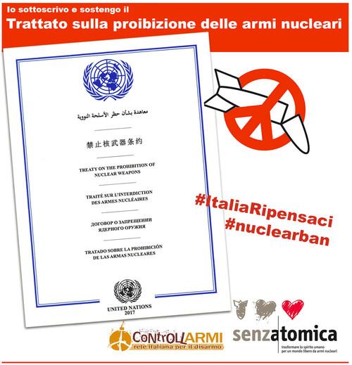 Italia Ripensaci! Campagna per il Trattato sulla messa al bando delle armi nuclari