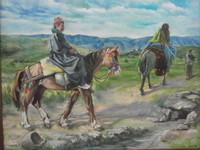 Il quadro nella sede del PUK ricorda gli anni della lotta in montagna