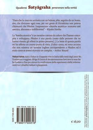 Retrocopertina del libro: Dalla bomba atomica al Pikadon
