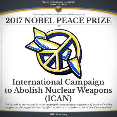 ICAN Premio Nobel per la Pace 2017