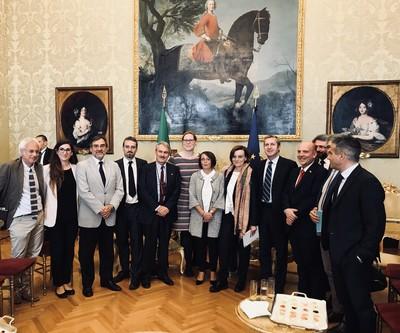 La delegazione di Rete Disarmo e Senzatomica ricevuta alla Camera dei Deputati