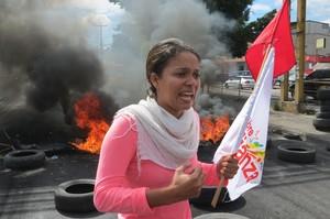 Protesta alla salita nord di Tegucigalpa (Foto G. Trucchi | Rel-UITA)