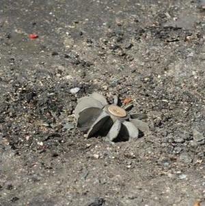 Quello che rimane di uno dei missili.