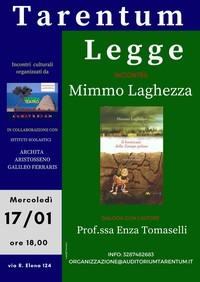 """Mimmo Laghezza a """"Tarentum Legge"""". Con la Taranto che Resiste"""