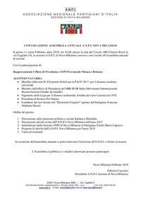 Relazione assemblea sezione ANPI Nova Milanese
