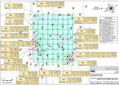 Superamenti CSC nei terreni area nuovi serbatoi tempa rossa - 2012