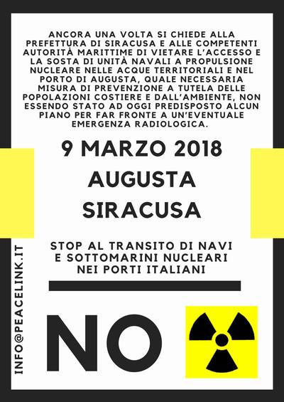 Iniziativa del 9 marzo contro il rischio nucleare nei porti italiani