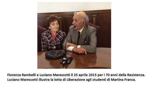 Luciano Marescotti e la moglie Fiorenza Rambelli a Martina Franca nell'aula consiliare per il 23 aprile 2015