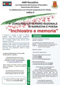 """""""Inchiostro e memoria"""" - 4° Concorso letterario nazionale di narrativa e poesia"""