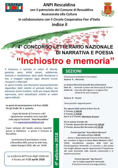 CONCORSO ANPI RESCALDINA (MILANO)