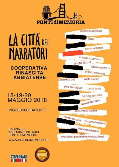 LA CITTA' DEI NARRATORI 2018 - Festival della Memoria di Abbiategrasso (Milano)