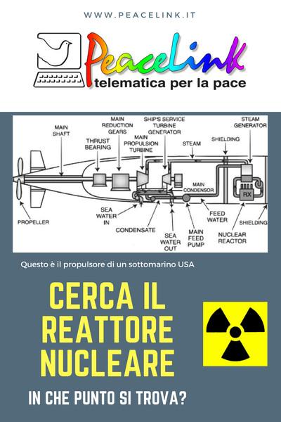 Schema di un reattore nucleare di un sottomarino USA