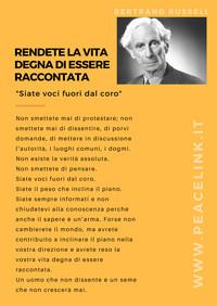 """Bertrand Russell: """"Rendete la vita degna di essere raccontata"""""""