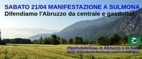 Boom di adesioni da tutta Italia alla manifestazione No Snam - No Hub del Gas di sabato 21 aprile a Sulmona.