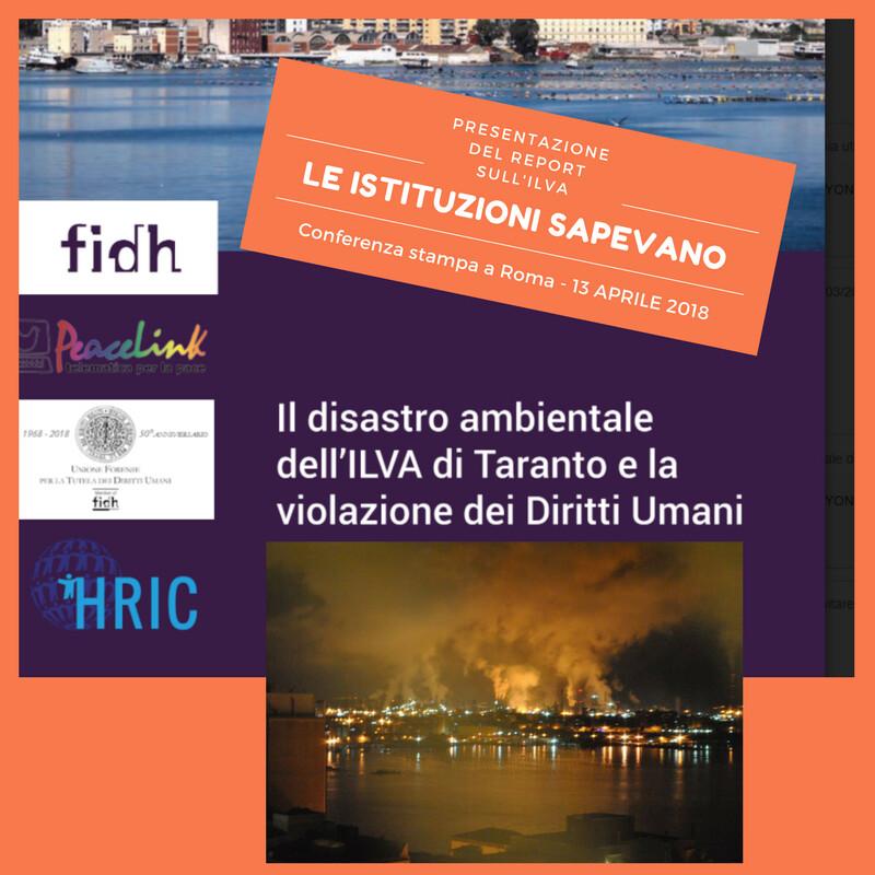 Report ILVA sulla violazione dei diritti umani a Taranto