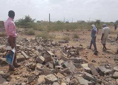 Casa Hussni distrutta