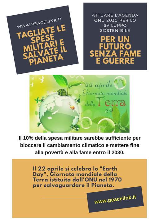 Salva il pianeta, taglia le spese militari