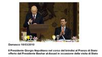 Napolitano brindava con Assad e Finmeccanica vendeva armi