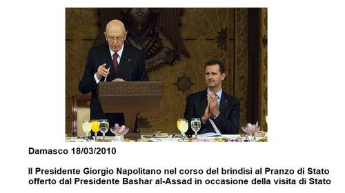 Napolitano e Assad nel 2010