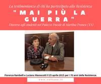 """Luciano Marescotti: """"Mai più la guerra"""""""