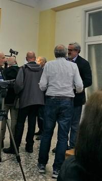 Michele Emiliano alla presentazione dell'Archivio Luciano Marescotti il 24 aprile 2018