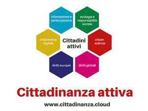 Il logo del sito www.cittadinanza.cloud dedicato alla formazione degli insegnanti alla cittadinanza attiva