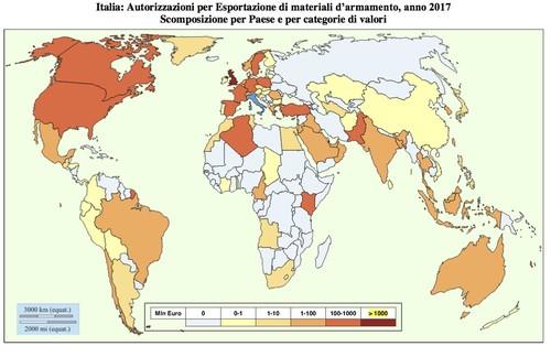 Planisfero Export Italia 2018