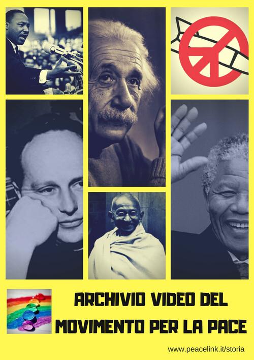 L'Archivio Video del Movimento per la Pace organizza i video pubblicati sul web e che riguardano la lotta per la pace e il disarmo. Clicca qui per accedere.